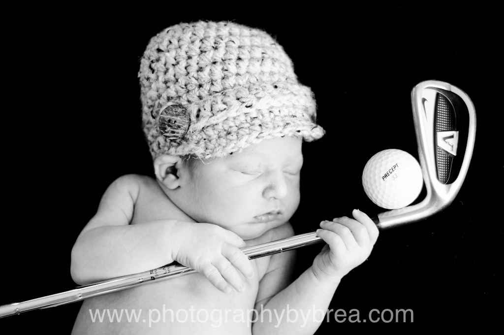 Newborn golf photograph
